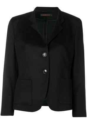 Incentive! Cashmere classic fitted blazer - Black
