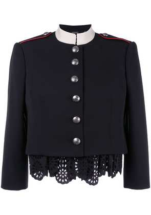 Alexander McQueen Military lace insert jacket - Black