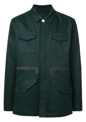 Iise panelled overshirt jacket - Green