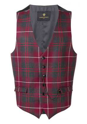 Lords And Fools checked waistcoat - Red