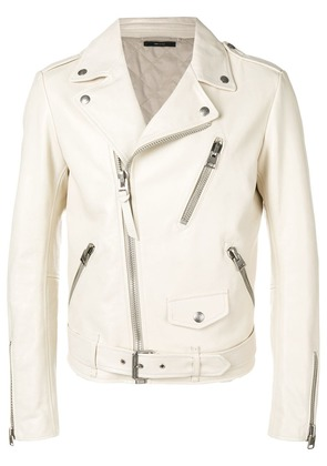Tom Ford zip-up leather jacket - Neutrals