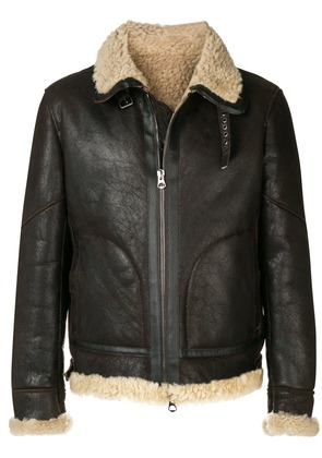 Jeckerson front zip shearling jacket - Brown