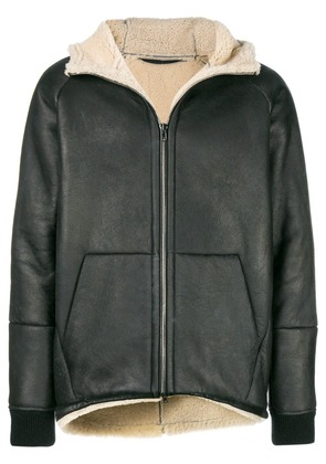 Salvatore Santoro shearling collar jacket - Black