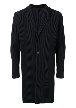 Pleats Please By Issey Miyake ribbed-style long jacket - Blue