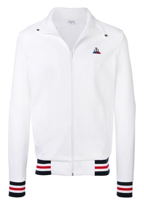 Le Coq Sportif striped trim sports jacket - White