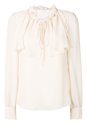 See By Chloé ruffled neck blouse - Neutrals