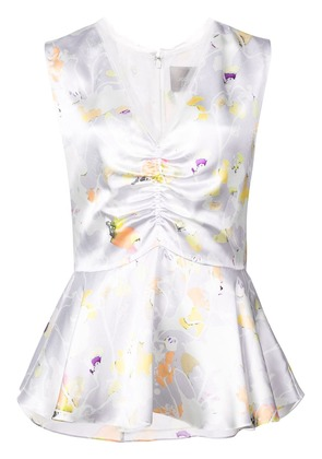 Jason Wu Collection floral sleeveless blouse - Grey