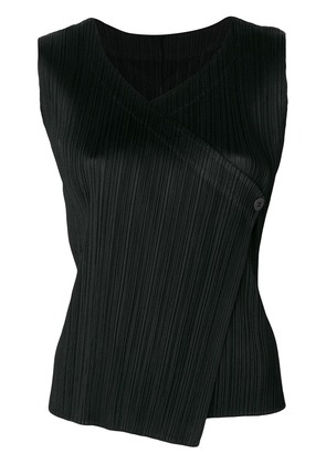 Pleats Please By Issey Miyake pleated button blouse - Black
