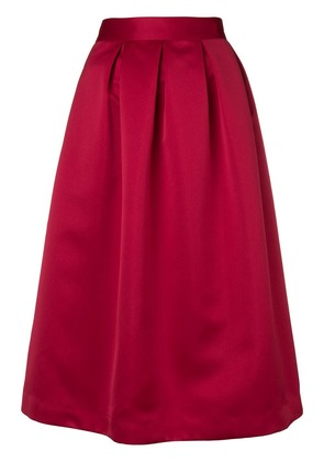 P.A.R.O.S.H. pleated midi skirt - Red