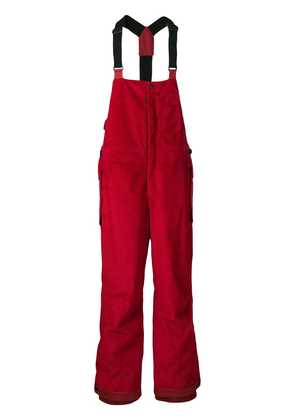Moncler Grenoble straigh-fit dungarees - Red