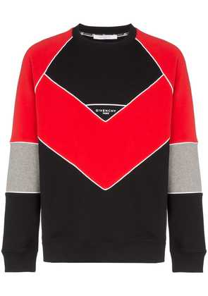 Givenchy GIV GEOMETRIC CRW SWT BLK RED - Black