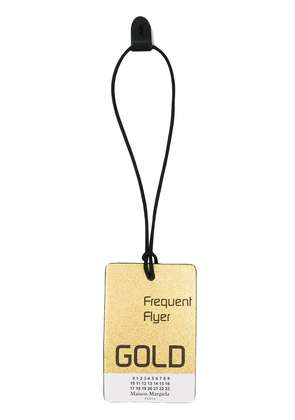 Maison Margiela Gold Frequent Flyer printed luggage tag - Metallic