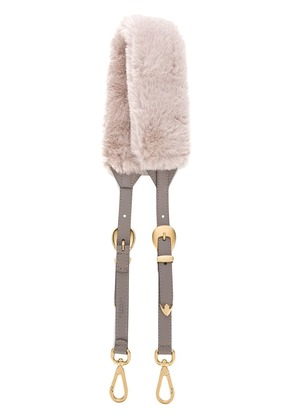 Orciani fur shoulder strap - Pink