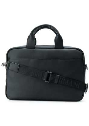 Emporio Armani cross body laptop bag - Black