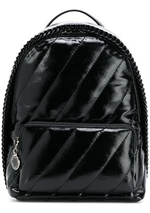 Stella McCartney patent faux leather backpack - Black