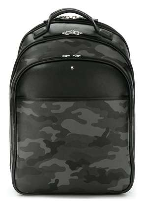 Montblanc camouflage print backpack - Grey