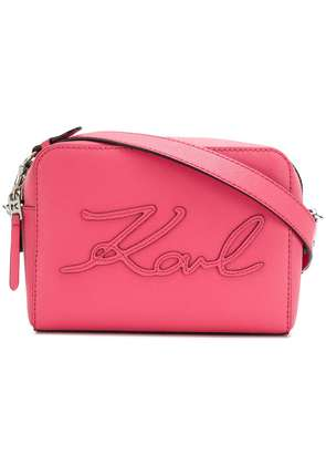 Karl Lagerfeld K/Signature Essential camera bag - Pink