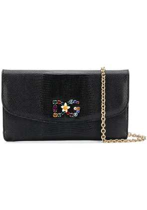 Dolce & Gabbana encrusted DG crossbody bag - Black