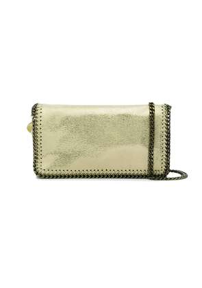 Stella McCartney Gold falabella chain cross body bag - Metallic