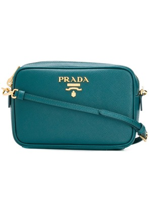 Prada logo plaque crossbody bag - Green