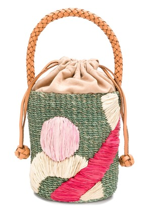 Aranaz wicker basket bag - Green
