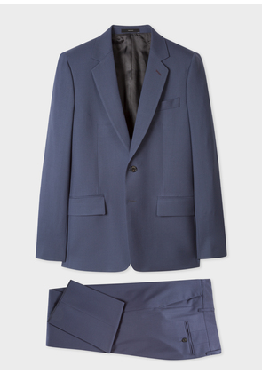 The Piccadilly - Men's Tailored-Fit Slate Blue Wool Suit 'A Suit To Travel In'