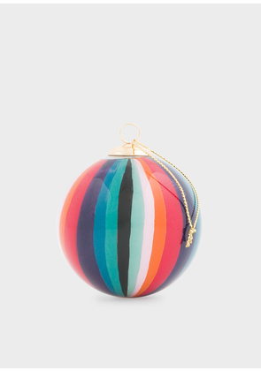 Hand-Painted 'Artist Stripe' Glass Bauble