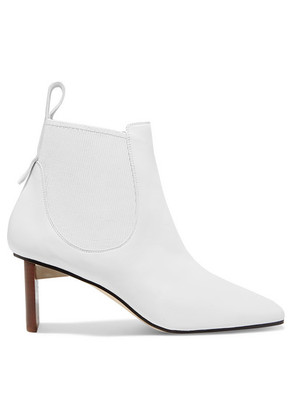 Loewe - Blade Leather Ankle Boots - White