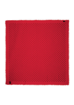 Gucci Red GucciGhost Scarf