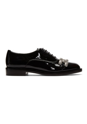 Marc Jacobs Black Patent Dara Chain-Link Oxfords