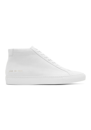 Common Projects White Nubuck Original Achilles Mid Sneakers