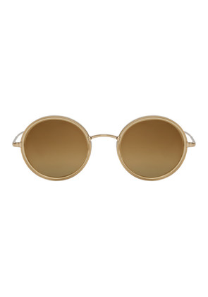 Garrett Leight Gold Playa Sunglasses