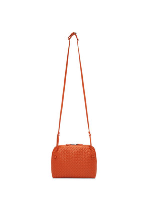 Bottega Veneta Orange Intrecciato Nodini Messenger Bag