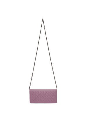 Bottega Veneta Purple Intrecciato Wallet Chain Bag