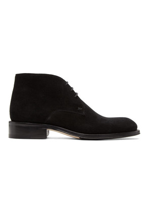 Brioni Black Suede Mosley Military Boots