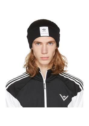 adidas x White Mountaineering Black Logo Beanie