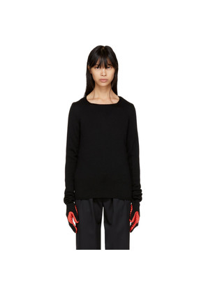 Comme des Garçons Black & Red Rubber Glove Sleeve Sweater