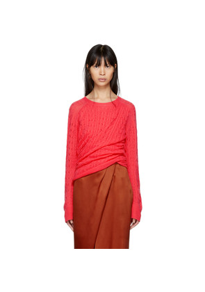 Sies Marjan Pink Cashmere Libbie Twisted Sweater
