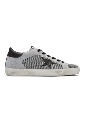 Golden Goose Silver Lurex Superstar Sneakers
