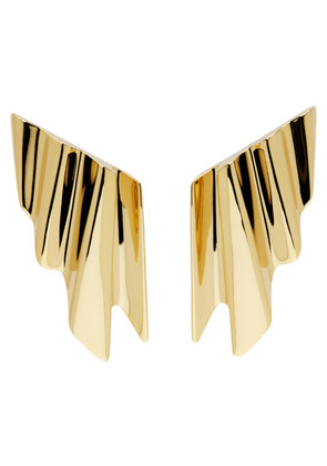 Saint Laurent Gold Babylone Clip-On Earrings