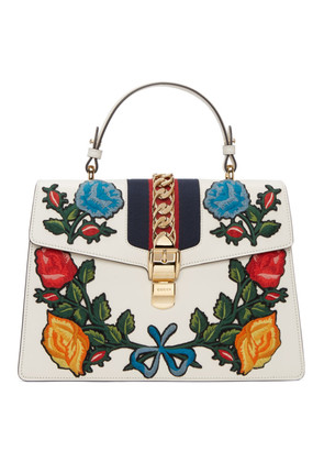 Gucci White Medium Sylvie Bag