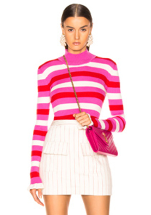 Maggie Marilyn You Make Me Happy Top in Pink,Red,Stripes,White