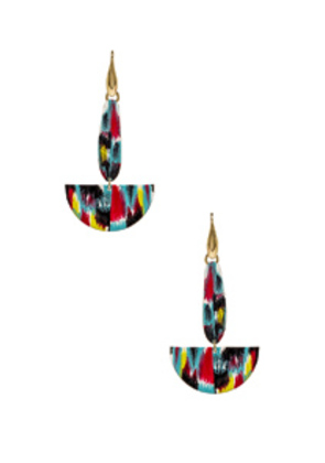 Isabel Marant Half Moon Drop Earrings in Blue,Metallic