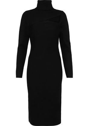 A.l.c. Woman Montero Cutout Stretch-knit Turtleneck Dress Black Size S