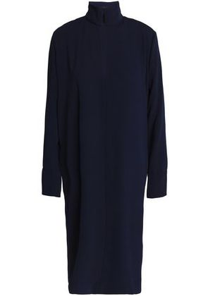 By Malene Birger Woman Wrap-effect Cutout Crepe Dress Blue Size 38