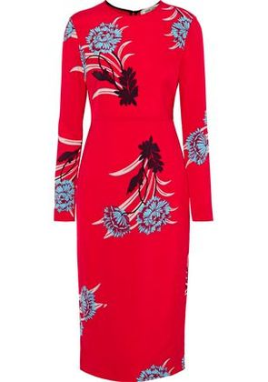 Diane Von Furstenberg Woman Farren Floral-print Cady Dress Red Size 4