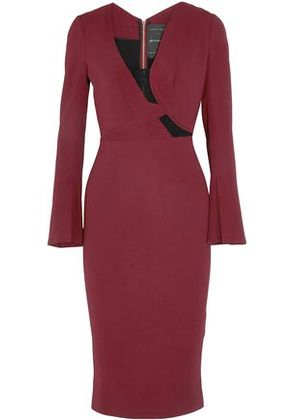 Roland Mouret Woman Knee Length Burgundy Size 10