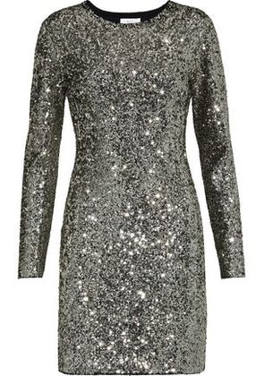 A.l.c. Woman Aliya Sequined Knitted Mini Dress Silver Size L