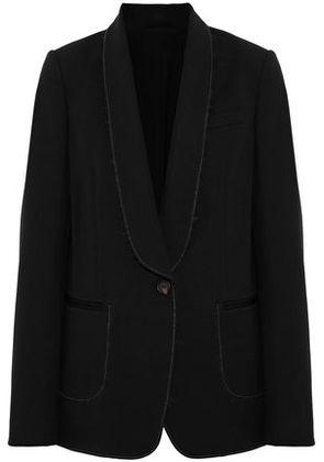 Brunello Cucinelli Woman Frayed Bead-embellished Mohair-blend Blazer Black Size 42