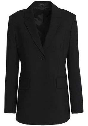 Theory Woman Stretch-wool Blazer Black Size 8